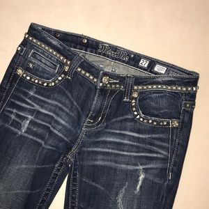 Miss Me Jeans Diamond Studded Size 27
